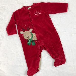 1st Christmas Footed PJs, 3 Months